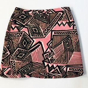Topshop Multi-Color NEW A-Line Cotton Skirt Size 4
